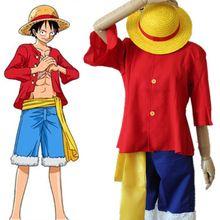 Shiping libre de UNA PIEZA Del Mono D Luffy II generación trajes de anime Japonés de cosplay del traje de Halloween
