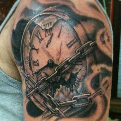 Grandfather Clock Tattoo | Clock Tattoo