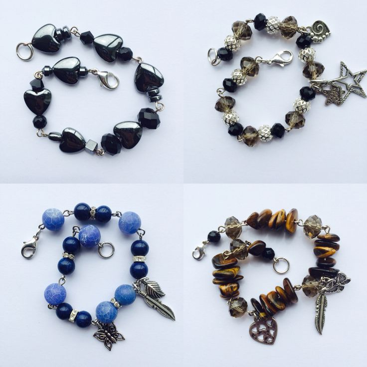 Multi gemstone bracelets by Janz Designz