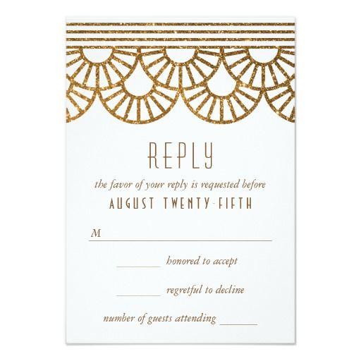 The 25+ best Art deco wedding reply cards ideas on Pinterest ...