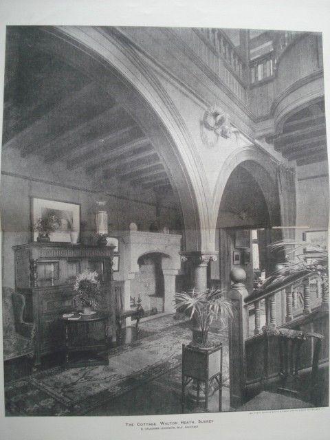 Interior: Cottage, Walton Heath, Surrey, England, 1893. B. Vaughan Johnson