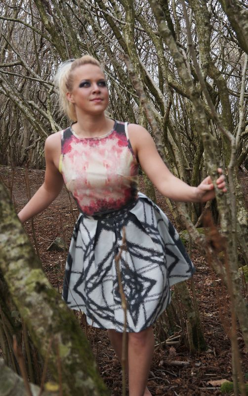 http://wildskydesign.com/  Top with lavePrint and skirt with StrukaosPrint