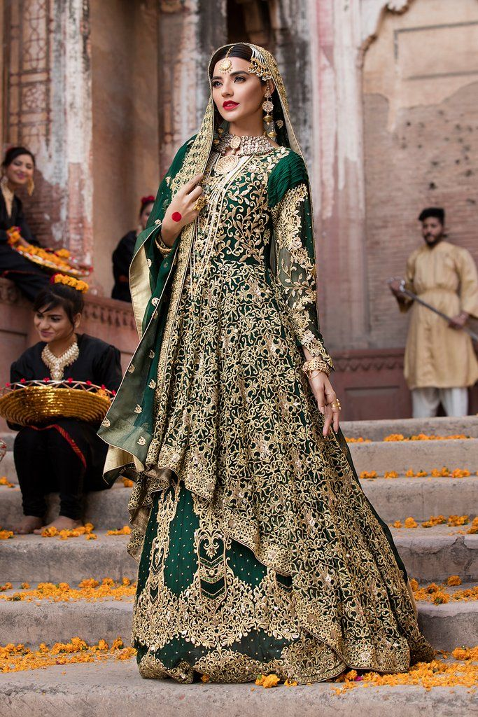 7580f945ef Emb Royal - Royal Emerald   Shops   Bridal outfits, Wedding dresses ...