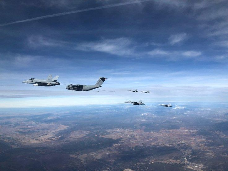 An Airbus A400M has successfully refuelled six Spanish Air Force F/A-18s in a single mission as part of an air-to-air refuelling certification flight.
