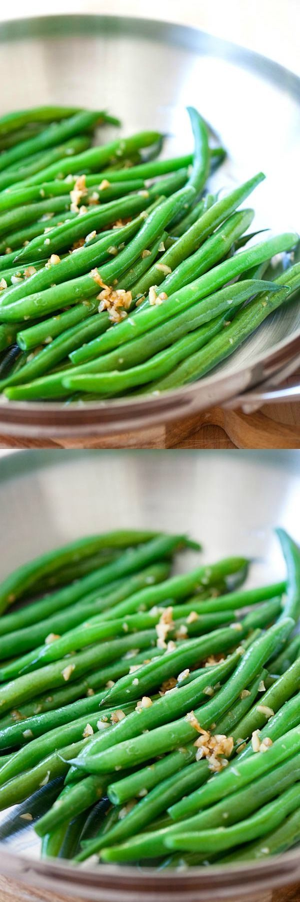 Garlic Green Beans - 10-min stir-fry green beans recipe with garlic. Super healthy, easy and budget-friendly for the entire family | http://rasamalaysia.com