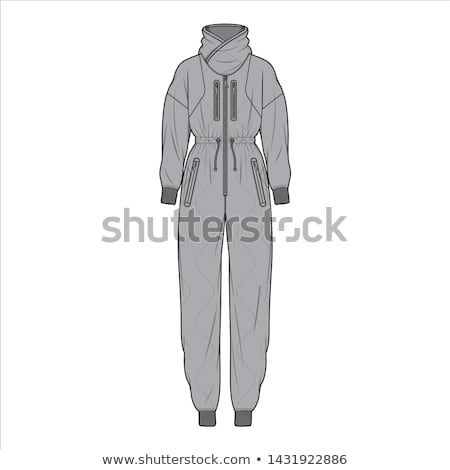 Jumpsuit fashion flat sketch template