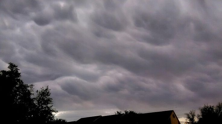 Clouds over my house.Euless,TX