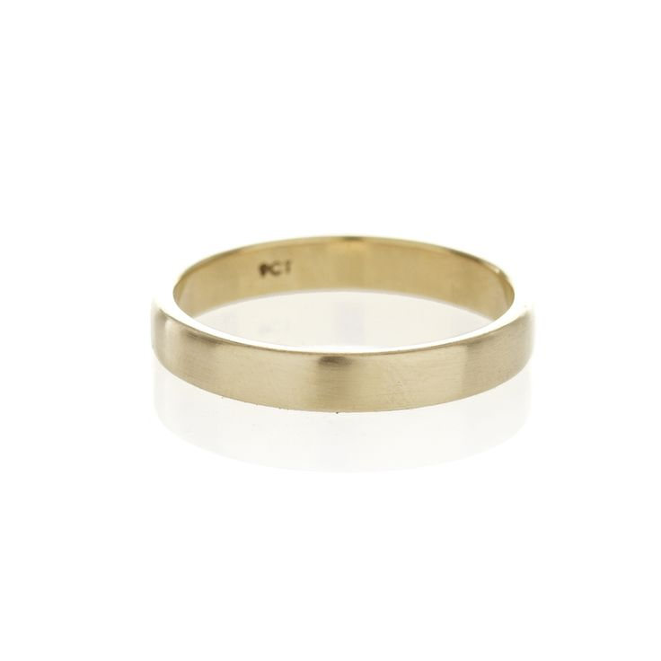 A square profile, 9ct yellow gold men's band | Dear Rae | Online shop