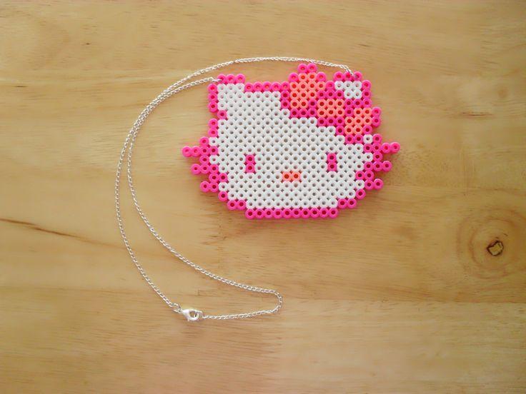 All Pink Hello Kitty Perler Hama Melty Fuse Beads