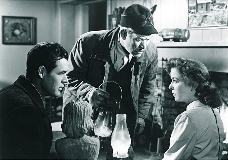Ward Bond, Ida Lupino, and Robert Ryan in On Dangerous Ground (1951)
