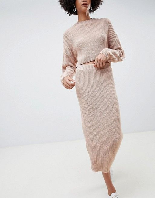 DESIGN two-piece skirt in rib knit 2