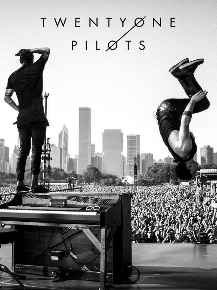 twenty one pilots - Tyler Joseph and Josh Dun backflip poster 17x11 inches