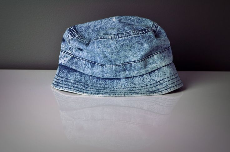 Light Blue Snow Wash Denim Bucket Hat