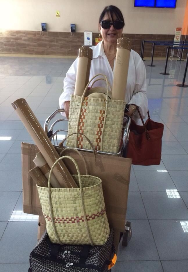 Art packed and ready to leave Havana 22 Dec 2013.
