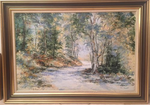 Rare-Collectable-Original-A-Country-Road-Oil-On-Board-Painting-By-Ian-Vincent