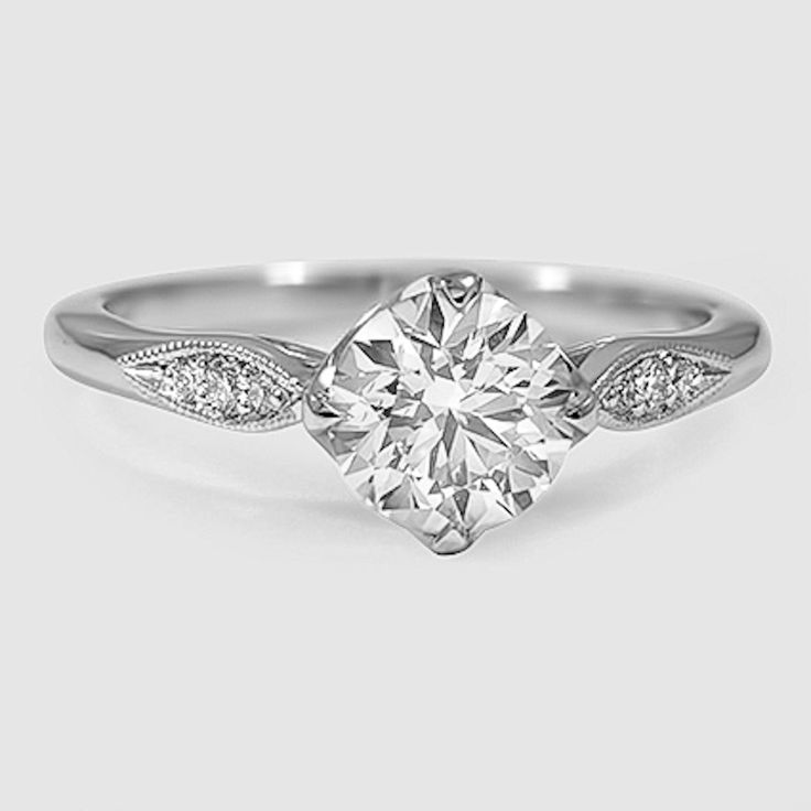 simple wedding ring 18k white gold ring 7520