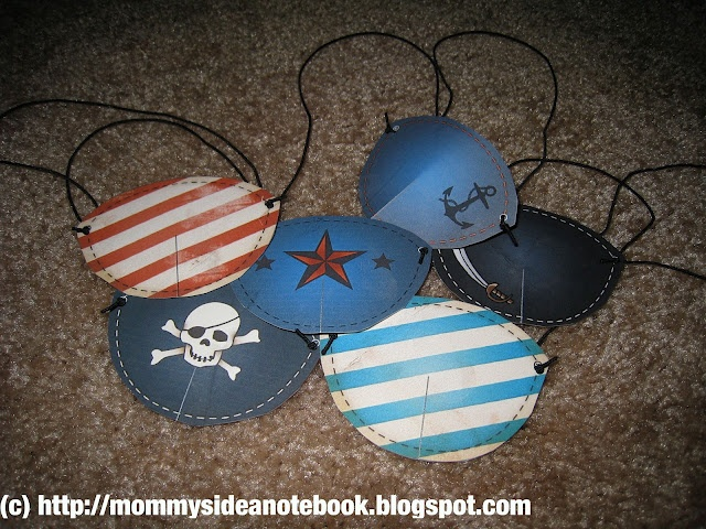 Decorate eye patches as part of treasure hunt- utilize front table area. Use stickers so no mess.