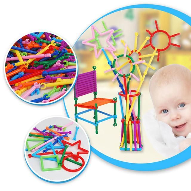 1 Pack Baby Kids Plastic Intelligence Sticks Educational Building Blocks  Toys Handmade DIY Early Learning Gifts