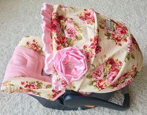 Rambling Roses Custom Infant Car Seat Cover