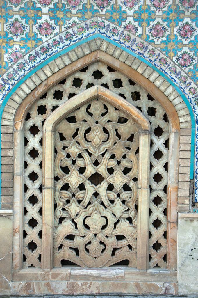 Window Grill at Tehran Golestan Palace Imarat-i Badgir - Iran  Building of the Wind Towers
