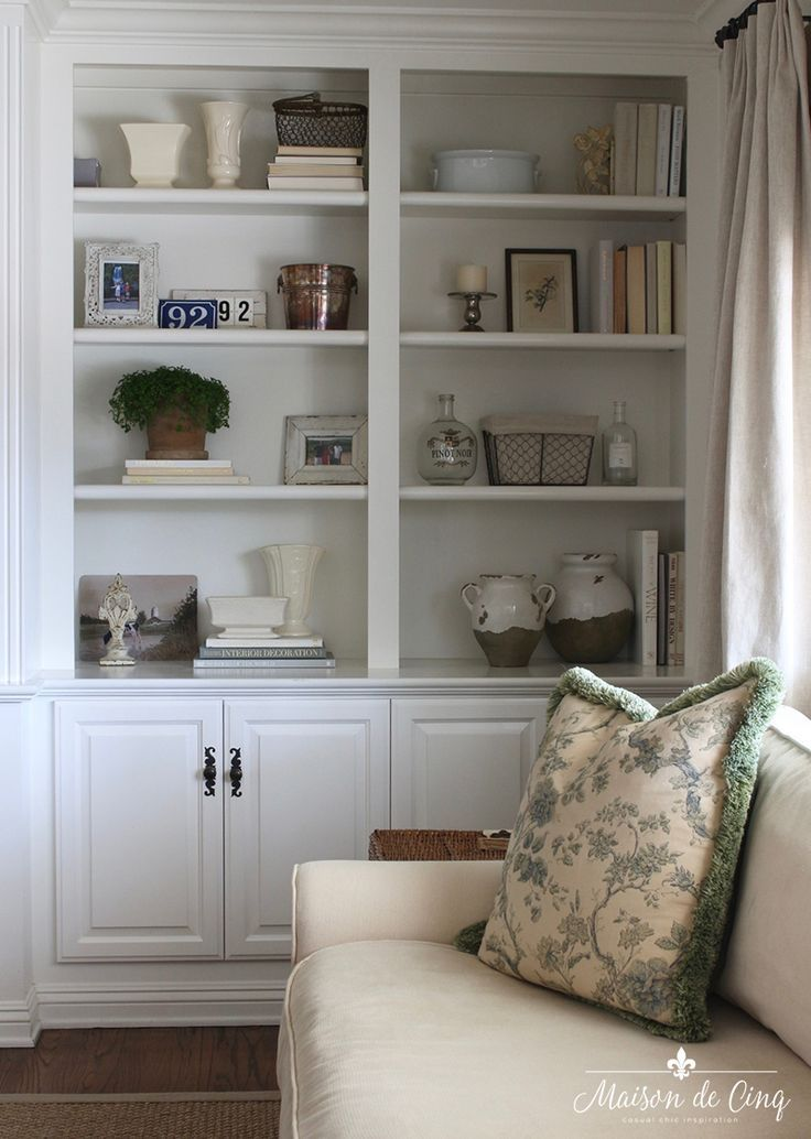 How To Style Book Shelves And My Re Styled Family Room Built Ins Bookshelves In Living Room Shelf Decor Living Room Built In Shelves Living Room