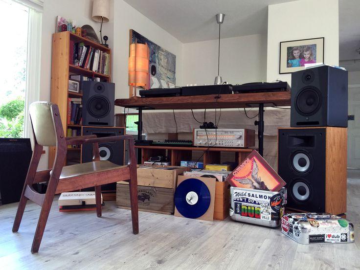 Jamie McCue's home setup.