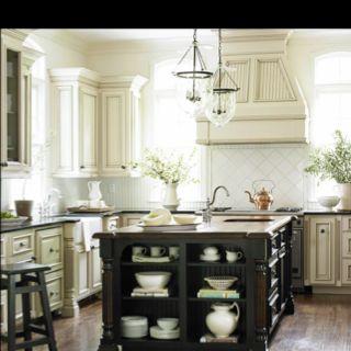 Kitchens-love the island shelves