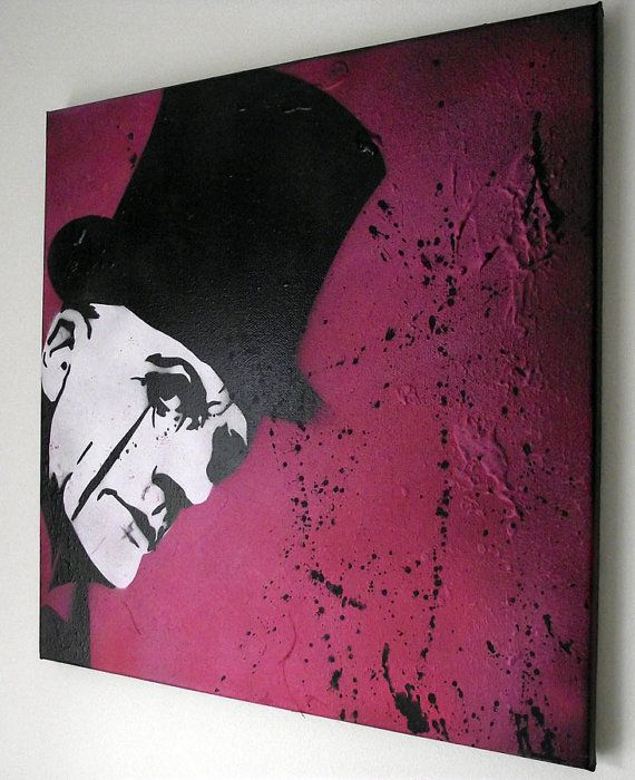 Love a bit of pink graffiti art for sale by Mr Pilgrim graffiti artist.    Multi layered composition using acrylics and spray paints. Painted on a