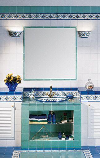 Ceramiche de maio vietri ceramiche maioliche mosaici marmi pinterest feature tiles and woods - Vietri ceramiche bagno ...