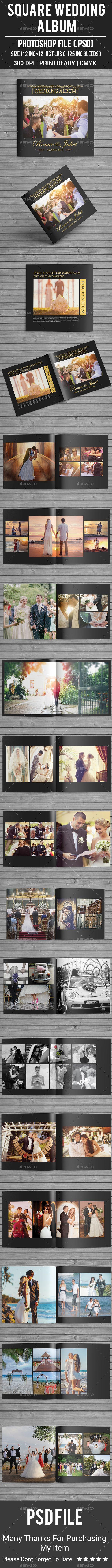 Square Wedding #Album - #Photo Albums Print Templates