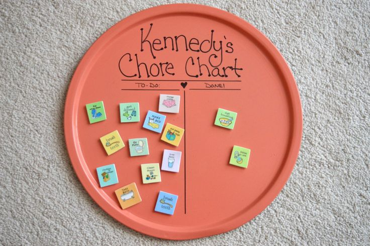Get Yo' Craft On: DIY Magnetic Chore Chart!