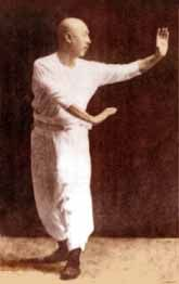Slightly colourized version of a classic picture. Zhang Zhao Dong- Baguazhang and Xingyiquan master walking the circle.