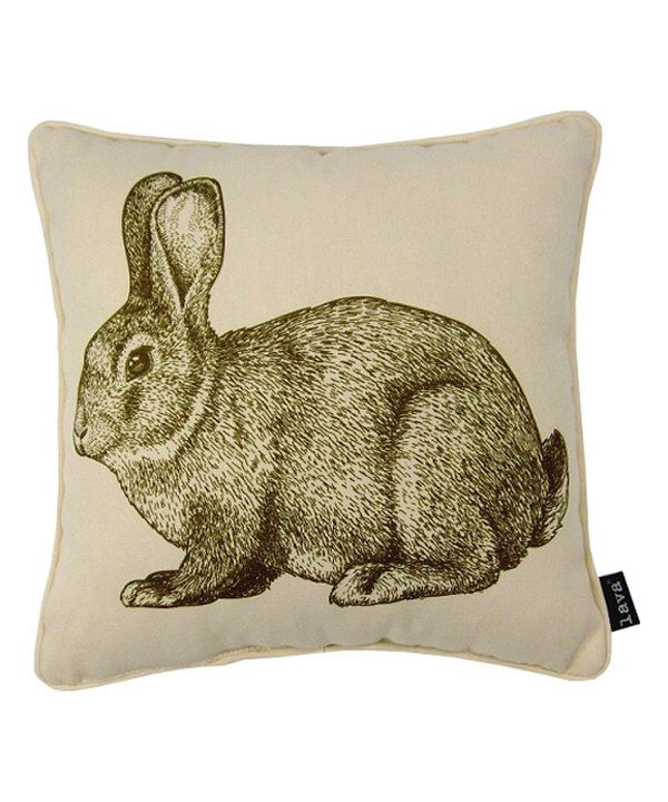 Look at this Bunny Eng Indoor/Outdoor Throw Pillow on #zulily today!