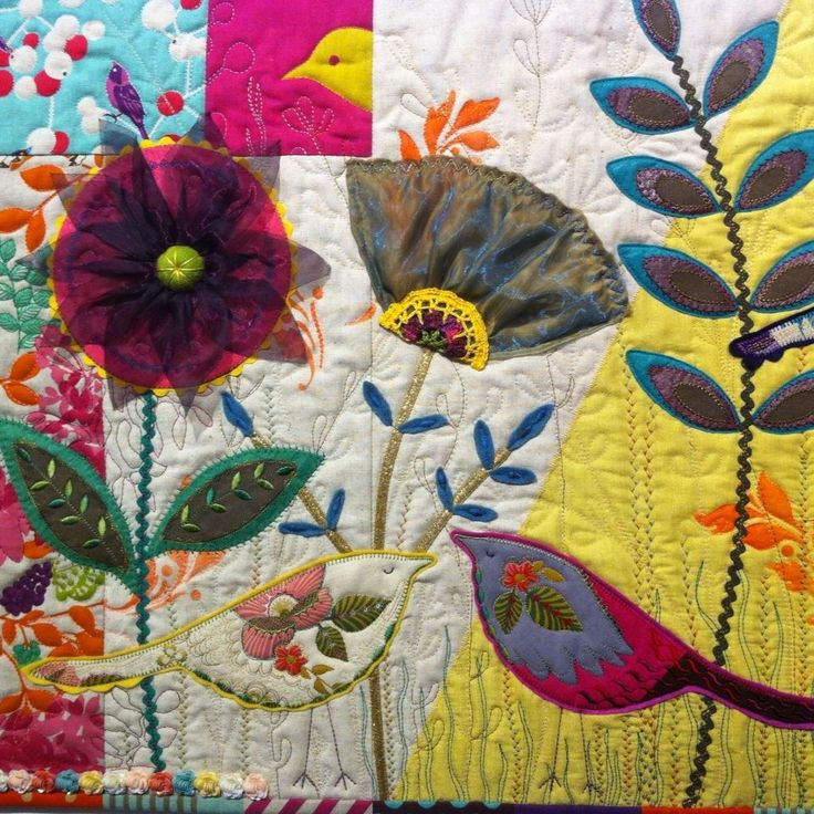 Quilt from the Auckland Quilt Guild: Dorothy Collard Challenge 2016. This challenge and exhibition is on at Lake House Art Centre again in April this year. Details on our website