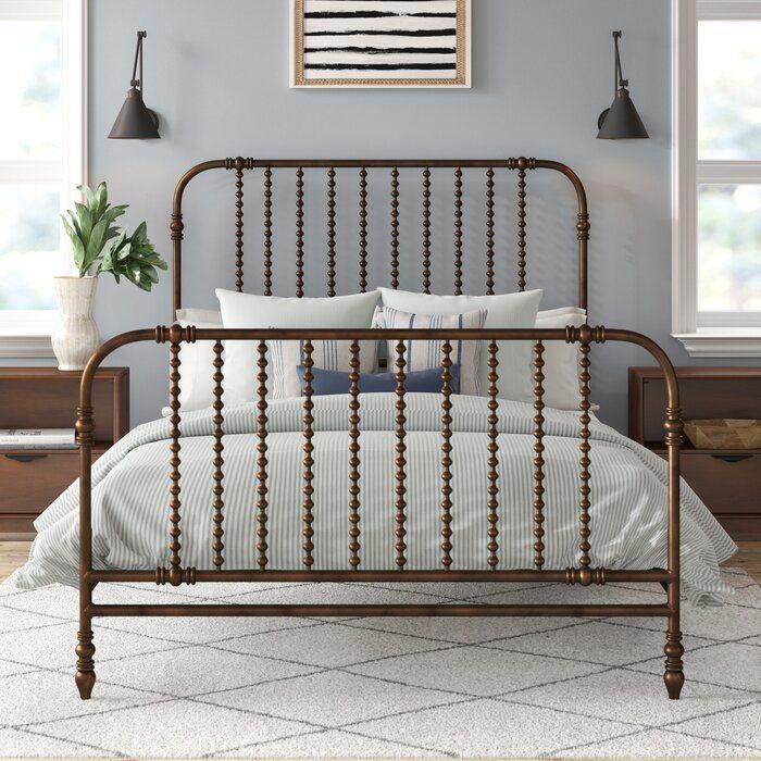 Fullerton Standard Bed Joss Main In 2020 Vintage Bed Frame Brass Bed Frame Vintage Bed