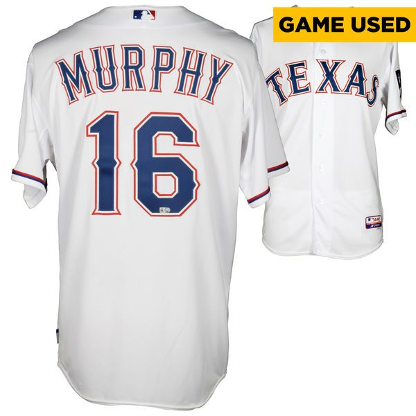Donnie Murphy Texas Rangers Fanatics Authentic Game-Used #16 White Jersey vs. Oakland Athletics on April 28, 2014 - $249.99
