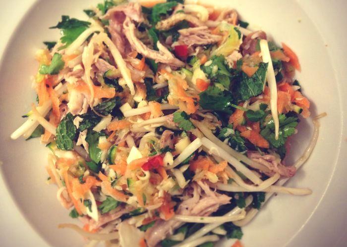 Shredded chicken Vietnamese salad