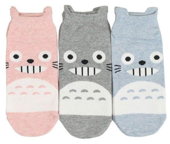 New unisex Cotton Character Socks_My neighbor TOTORO_gray/pink/blue