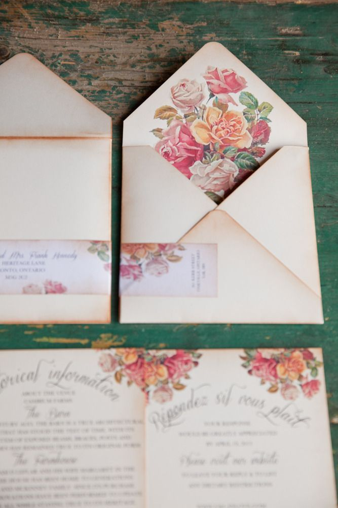 Wedding invitations from anistadesignscom see more on for Floral wedding invitations canada