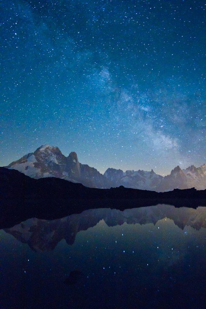 Star dust - Cheserys Lake, Chamonix #France