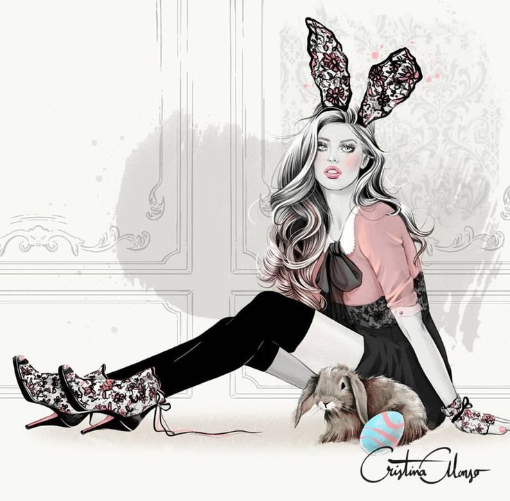 #Easter #Bunnies #HappyEaster @cristinaalonsoillustration| Be Inspirational ❥|Mz. Manerz: Being well dressed is a beautiful form of confidence, happiness & politeness
