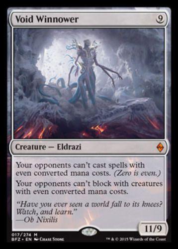 Void Winnower mtg Magic the Gathering Battle for Zendikar mythic rare eldrazi creature card