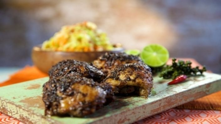 17 best chef reza spice prince images on pinterest asian food roast chicken thigh served with asian slaw forumfinder Choice Image