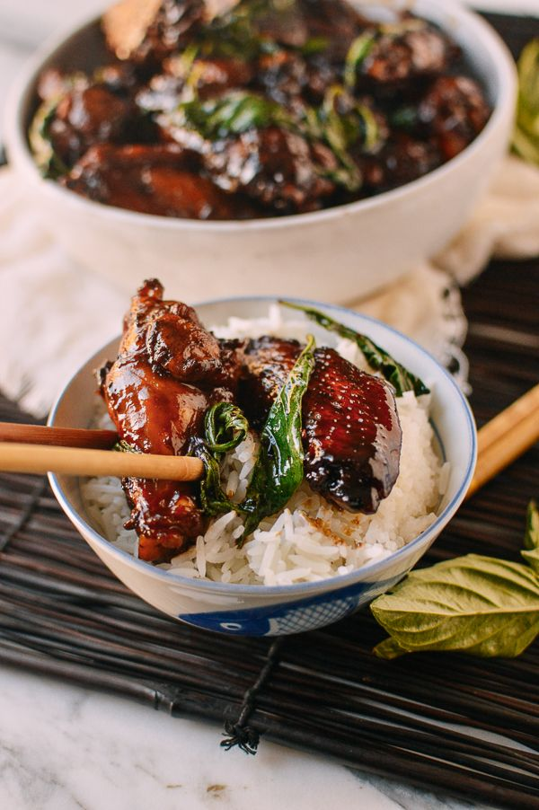 Three Cup Chicken San Bei Ji Recipe Poultry Recipes Recipes Asian Recipes