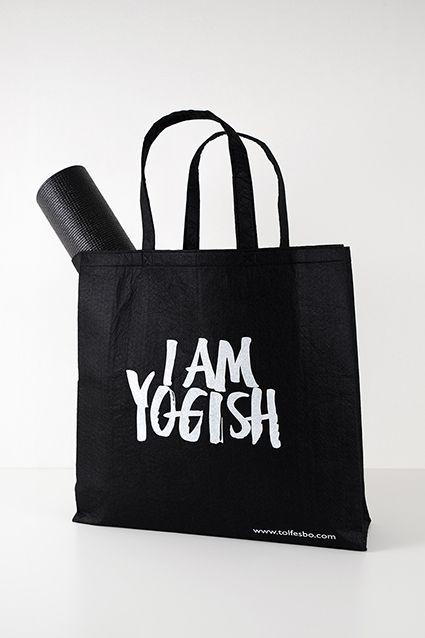 Calligraphy for Tolfesbo Yogish bag.