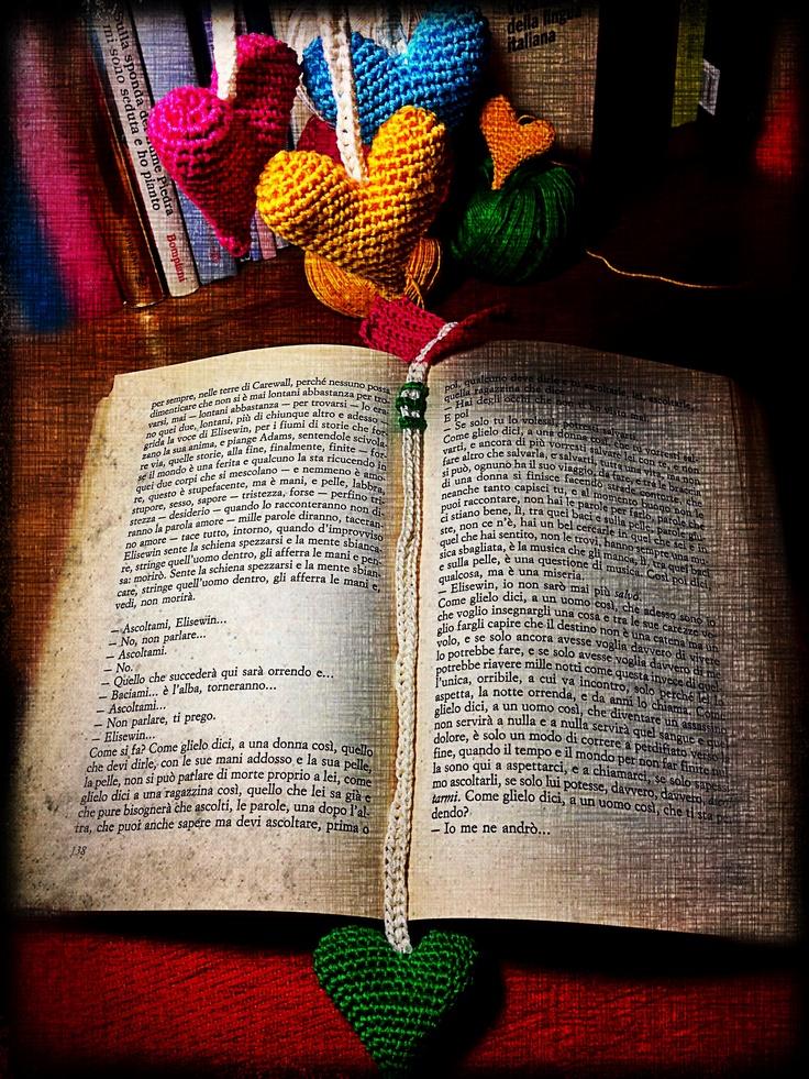Leggere e creare.  Segnalibro uncinetto - crochet - bookmark