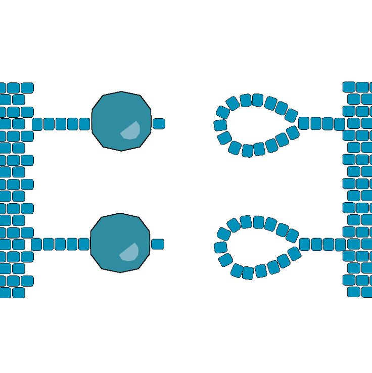 #DIY Flat Peyote Clasp - Option 2 - Beading Techniques - Fusion Beads - finalizar com duas contas grandes e duas argolas de missangas