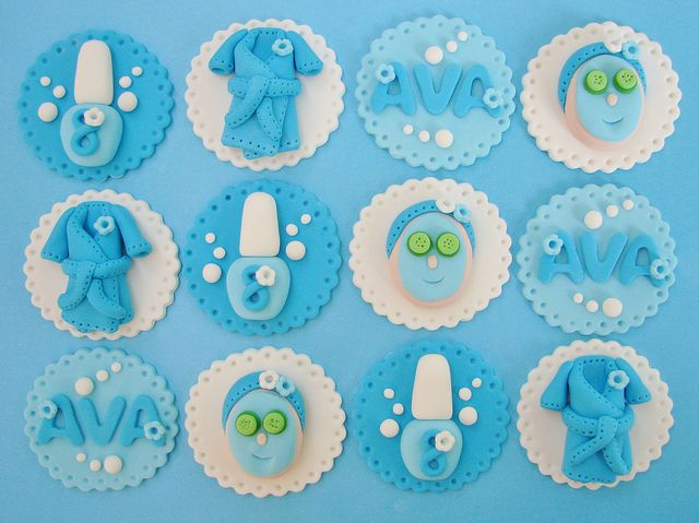 Spa Cupcake Toppers by Lynlee's Petite Cakes, via Flickr