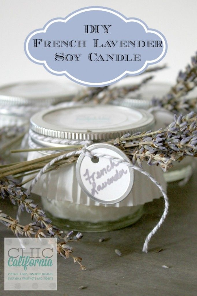 DIY French Lavender Candle