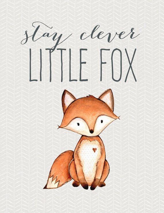 Woodland Nursery, Boho Nursery Art, Fox Print, Bear Print, Raccoon Print, Owl Print, Animal Print